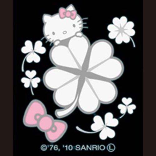 Sanrio Hello Kitty Happy Flower Makie Cell Phone Decoration Sticker (Clover)