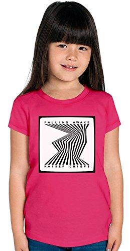 Kaiser Chiefs Falling Awake Ragazze T-shirt Stylish T-Shirt For Girls Fashion Fit Kids Printed Clothes By Genuine Fan Merchandise 6/7 yrs