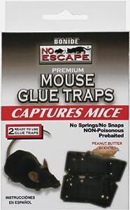 Bonide 11100 No Escape Mouse Glue Traps, 2-Count