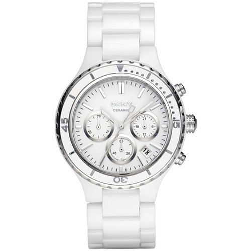 DKNY White Ceramic Chronograph Ladies Watch NY8187