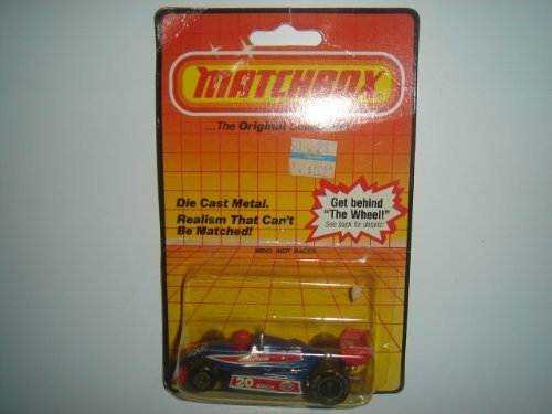 Vintage 1983 Matchbox Indy Racer Blue/Red MB65 Made in Macau - 1