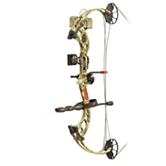 PSE Ready To Shoot Vision Bow Package with Right Hand 50# Draw, Break-Up Infinity,... by PSE