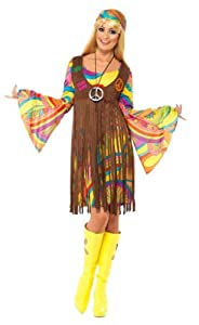 Smiffy's 1960s Groovy Lady Dress, Multi, X-Large