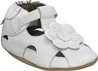 Robeez Soft Soles Pretty Pansy Crib Shoe (Infant/Toddler),White,18-24 Months (6.5-8 M US Toddler)