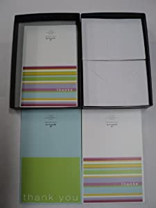 HALLMARK STATIONERY (2 - Designs: Thanks & Thank you Cards) 1 Box includes - 50 Blank cards & 50 Envelopes