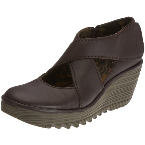 Fly London - P500045009, Sandali eleganti donna, color Marrone (dk.brown), talla 42 EU