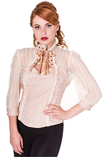 Banned - Camicia - Collo mao  -  donna beige - beige L