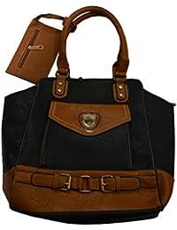 Knott Fashionable Multipurpose Black Hand Bag For Women With Ditachable Pocket At Shoulder Strap