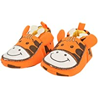 Baby Bucket Pre-Walker Shoes Light Weight Soft Sole Orange Color Booties Shoes (6-12 Months)