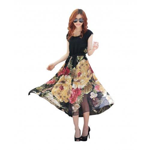 Women's western wear skirt type dresses (colour-black