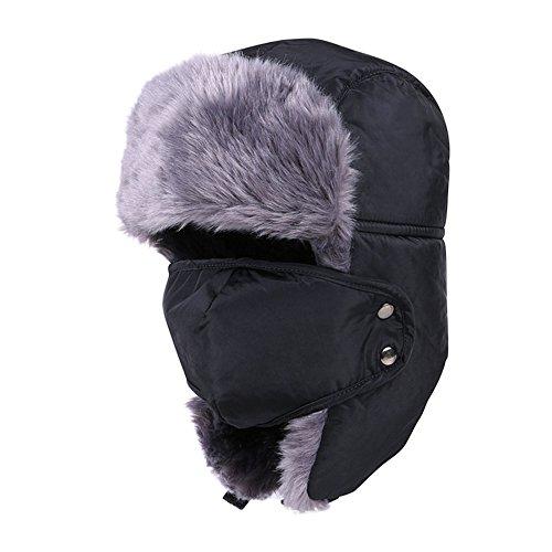 DAYAN Cappello Passamontagna sci invernale di Sport all'Aria Aperta al caldo e al Freddo Uomo Unisex Donna colore nero