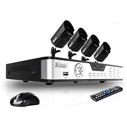 Amazon.com : Zmodo PKD-DK4216 Surveillance Camera Kit with 4-Channel H.264 DVR and 4 Indoor/Outdoor IR Cameras - Hard Drive Not Included : Camera Cases