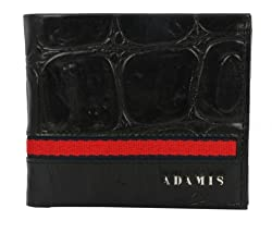 Adamis Genuine Leather Black Mens Wallet