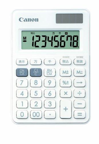 Canon 8桁電卓 LS-80TU-WH SOB PURE WHITE ...