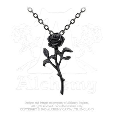 The Romance of the Black Rose Mystery of My Hearts Darkness Necklace by Alchemy Gothic
