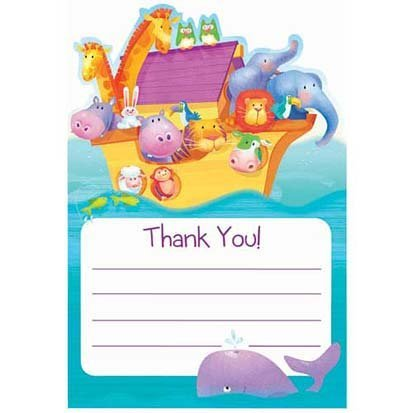 Two By Two Thank You Cards 8ct
