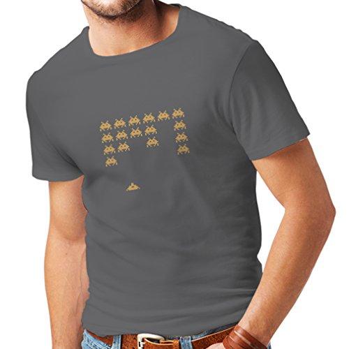 N4083-Vintage-PC-Maniacs-Unisex-T-Shirt-XXL-Grau-Gold