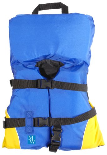 Image of MW Infant Heads Up Life Jacket Vest PFD - Yellow/Blue (B004VGMDCC)