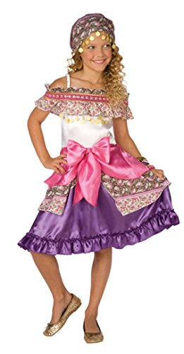 Girls Gypsy Fortune Teller Cosplay Child Fancy Dress Party Halloween Costume