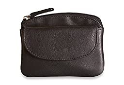Brunhide Genuine 100% Soft Leather Coin Purse With Key Ring # 218-300