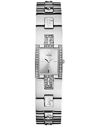 Guess W75059L1 - Orologio da polso da donna, cinturino in acciaio inox colore argento
