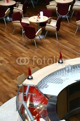 Wallmonkeys Peel and Stick Wall Decals - Modern Hotel Bar Made of Glass, Metal and Plastic - 48