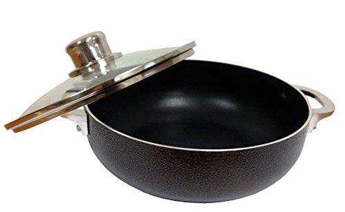 IMUSA USA CHI-00066 Caldero Nonstick with Glass Lid, 24cm, Bronze (Rice Pot Caldero compare prices)