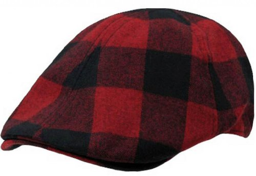 Plaid Ivy Golf Hat Driver Cap by Decky (Red Plaid, Large/X-Large)
