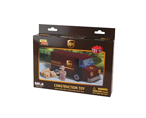 Daron BL99977 UPS 111 Piece Package Car Construction Toy
