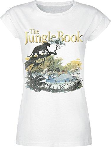 The Jungle Book Bagheera Maglia donna bianco XL