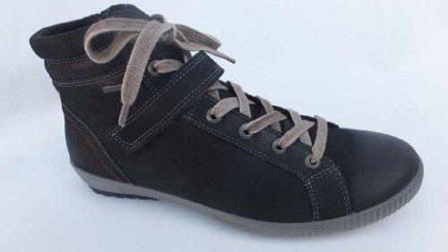 Legero Tanaro, Sneaker a collo alto donna, Nero (nero), 38.5