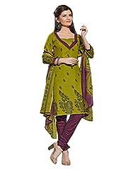 fabgruh Green colour dress material