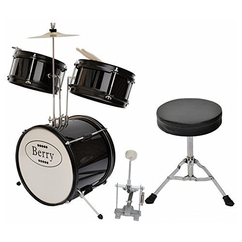 berry-toys-complete-kids-small-drum-set-with-cymbal-stool-and-sticks-black-by-berry-toys