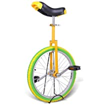 """Bright Lemon 20 Inch In 20"""" Mountain Bike Wheel Frame Unicycle Cycling Bike With Comfortable Release Saddle Seat"""