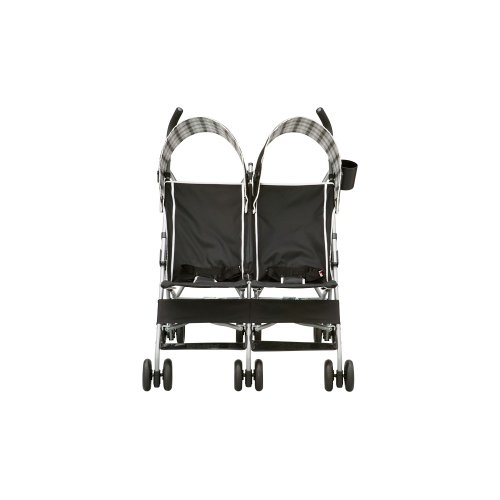 Delta Children City Street Side by Side Stroller, Black - 1