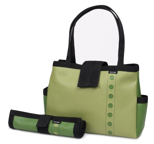 Holly Aiken Bomber Diaper Tote Bag, Atomic, Avocado/Olive