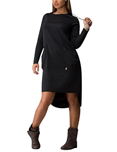 amz-plus-womens-long-sleeve-round-neck-solid-color-loose-knee-length-dress-black-2xl