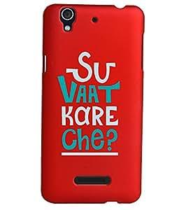KolorEdge Back Cover For Micromax Yu Yureka - Red (1632-Ke15137MmxYurekaRed3D)
