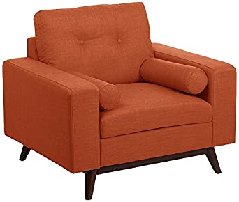 Kimlyn Rio Orange Mid-Century Modern Armchair