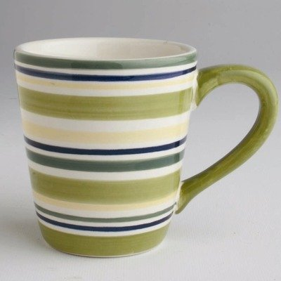 Sonoma Stripe Mug (Set of 4) Color: Celadon Stripe
