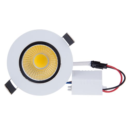 Sunsbell®Energy Saving Cob Led Ceiling Light Recessed Downlight 3W Warm White Wall Lamp
