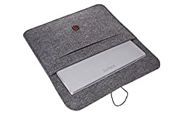 Bear Motion (TM) Premium Felt Sleeve Case for Microsoft Surface Pro 3 and Keyboard Case (Main pocket size: 9 inch X 13 inch - Case may feel just slightly bigger if you don't use a keyboard Cover)