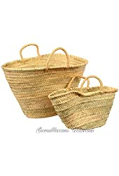Mother and Daughter Market Baskets