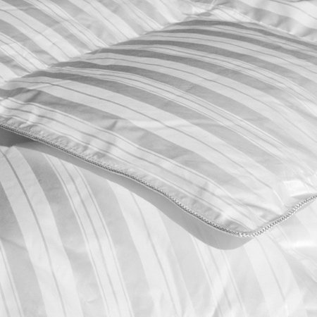 """500Tc Twin Size 64X88"""" 850 Loft Canadian Hutteritte White Goose Down Comforter: Summber Fill-""""Milano Collection"""" front-995109"""