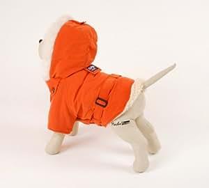 Petego Dogrich Italian Winter Dog Coat, Orange, 22 Inches