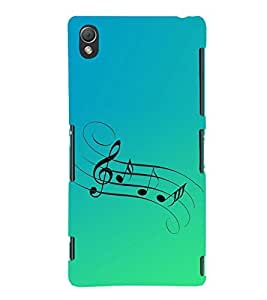 Music Tattoo 3D Hard Polycarbonate Designer Back Case Cover for Sony Xperia Z3 :: Sony Xperia Z3 Dual :: Sony Xperia Z3 D6633