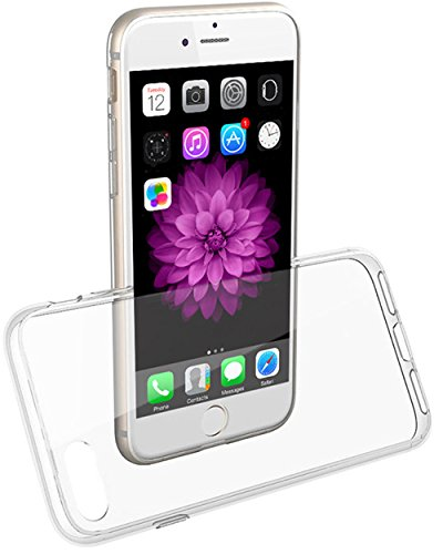 """COVERbasics SOFTCASE 1mm per Apple iPhone 7 4.7"""" con Bordo Anteriore Salvaschermo Cover Custodia Bumper Morbida TRASPARENTE Crystal Clear HD TPU Silicone Gel Gomma Robusta Solida Antiurto"""
