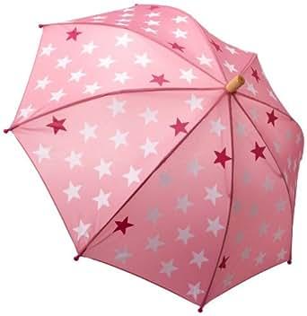 Hatley Little Girls'  Fun Stars Umbrella, Pink Bikini, One Size