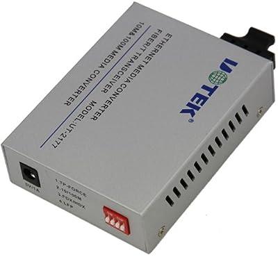 UTEK UT-2177SM/MM 10/100M to SC/ST/FC Fiber Optic Industrial Media Converter-1 TCP/IP Port