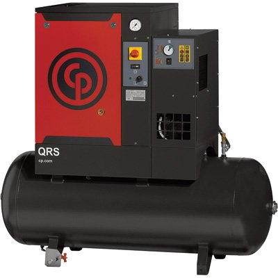 - Chicago Pneumatic Quiet Rotary Screw Air Compressor with Dryer - 7.5 HP, 230 Volts, 1 Phase, Model# QRS7.5HPD-1